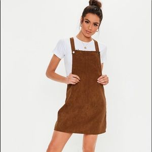 NEW Missguided • Corduroy Pinafore Dress